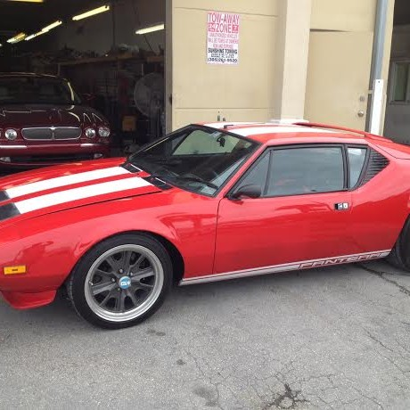 1975 Red GTS DeTomaso Pantera Car